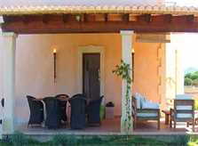 Terrasse Finca Mallorca mit Pool im Südosten PM 608