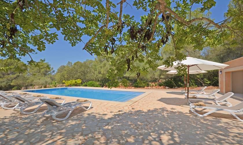 Poolblick Ferienvilla Mallorca Süden PM 6140
