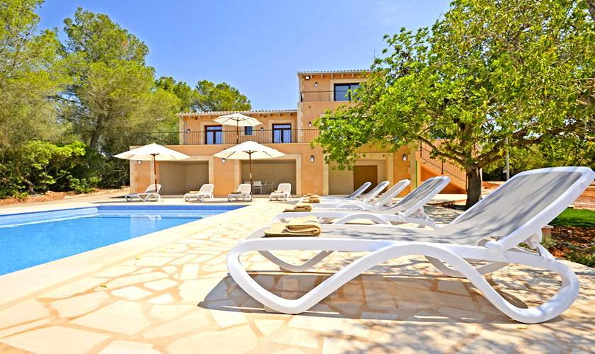 Poolblick Ferienhaus Mallorca 10 Personen PM 6140