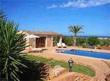 Blick auf die Finca Mallorca Ostküste PM 630