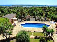 Pool und Landschaft Finca Mallorca Ostküste PM 630