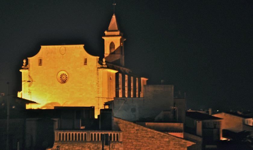 Blick bei Nacht Ferienwohnung Mallorca Santanyi für 4 Personen PM 6432