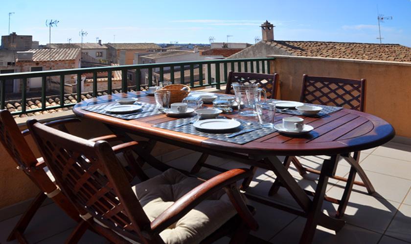 Terrasse Ferienwohnung Mallorca Santanyi für 4 Personen PM 6432