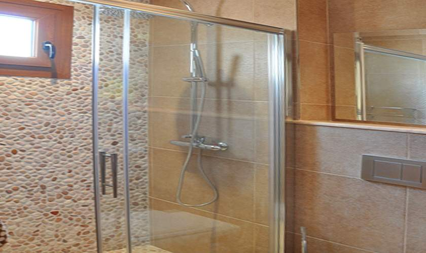 Dusche Ferienhaus Mallorca Santanyi PM 644 für 6 Personen