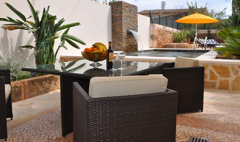 Terrasse Patio Ferienhaus Mallorca Santanyi PM 644 für 6 Personen