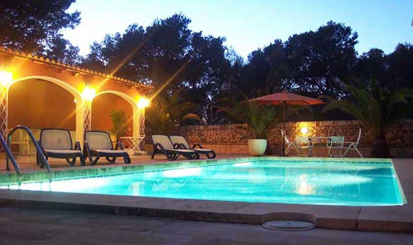Pool beleuchtet Ferienvilla Mallorca PM 645