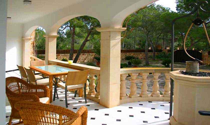 Terrasse Ferienvilla Mallorca Süden PM 645
