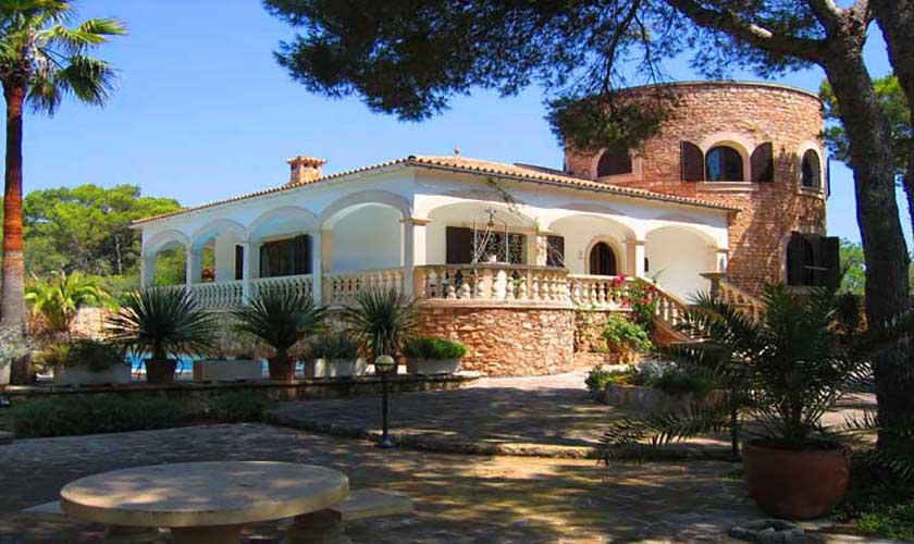 Blick auf die Ferienvilla Mallorca Süden PM 645