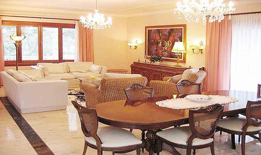 Wohnraum Ferienvilla Mallorca Süden PM 645