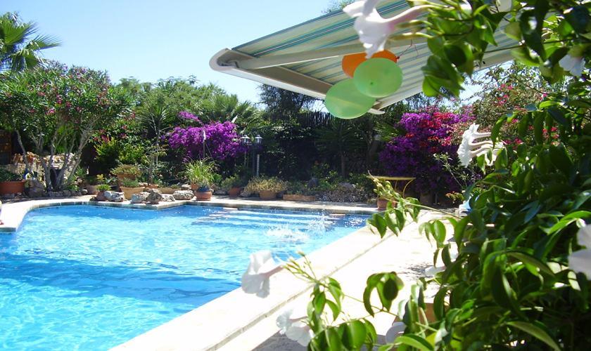 Poolblick Ferienhaus Mallorca Cala Santanyi 2 Personen PM 647