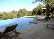 Pool und Liegen Finca Mallorca PM 650