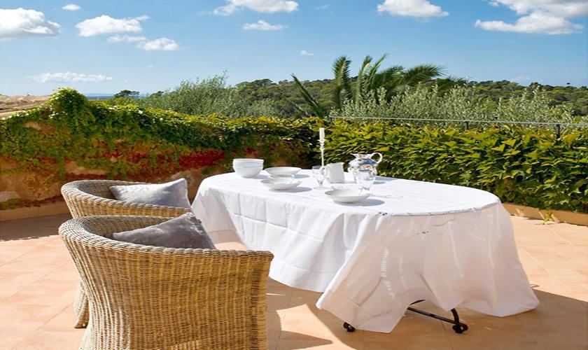 Terrasse Luxusfinca Mallorca Santanyi PM 650