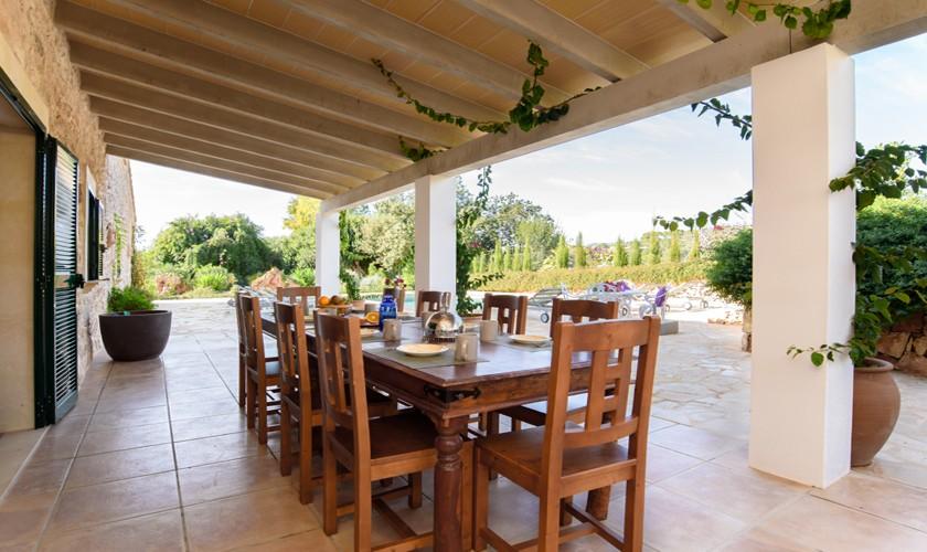 Terrasse der Finca Mallorca 10 Personen PM 6521