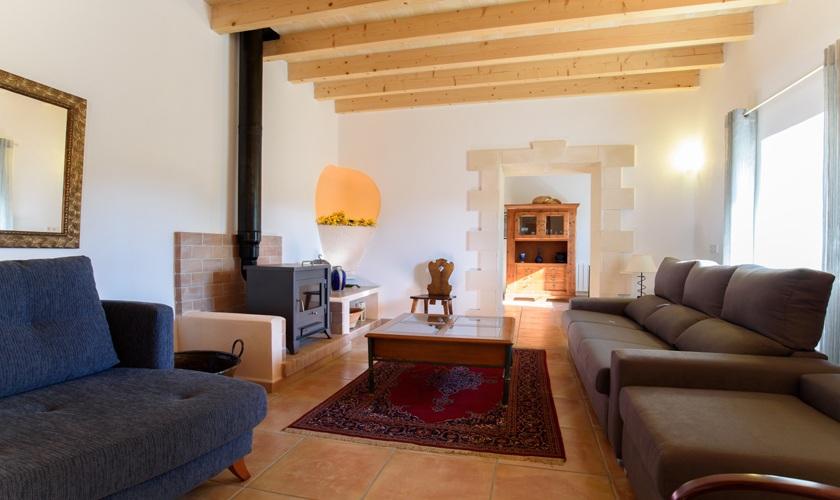 Wohnraum Ferienfinca Mallorca 10 Personen PM 6521