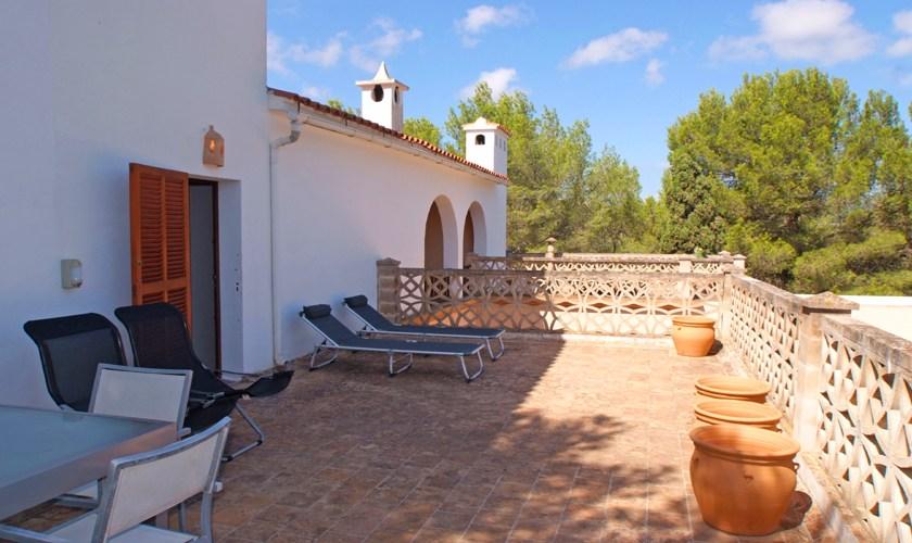 Terrasse oben Ferienvilla Mallorca 8 Personen PM 6522