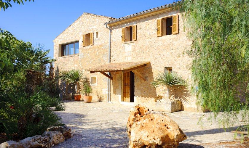 Blick auf die Finca Mallorca 14 Personen PM 6525