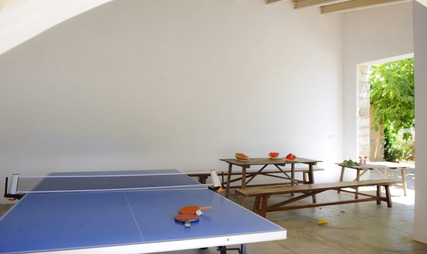 Tischtennis Finca Mallorca 14 Personen PM 6525