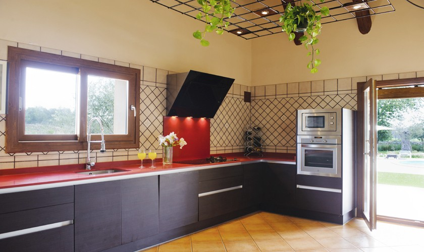 Küche Finca Mallorca mit Pool PM 6527
