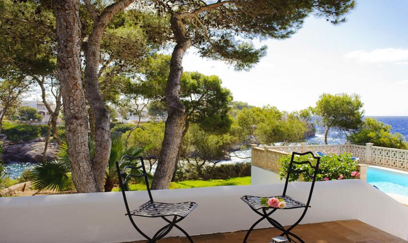 Terrasse und Meerblick Ferienhaus Mallorca Südosten PM 6529