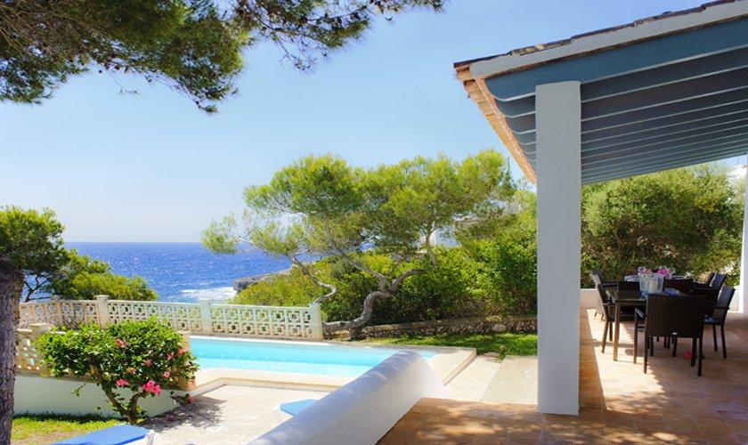 Terrasse und Meerblick Ferienhaus Mallorca PM 6529