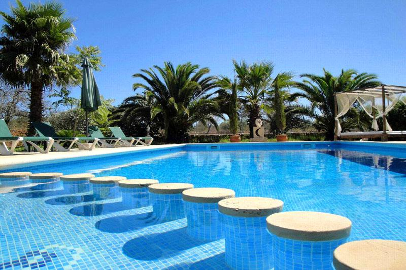 Poolblick Finca Mallorca Südosten PM 652