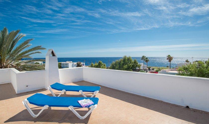 Dachterrasse Ferienhaus Mallorca Strandnähe PM 6530