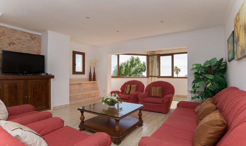 2. Wohnraum Ferienhaus Mallorca Strandnähe PM 6530