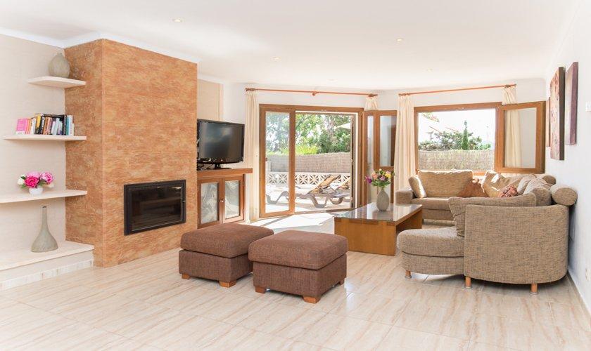 Wohnraum Ferienhaus Mallorca Strandnähe PM 6530