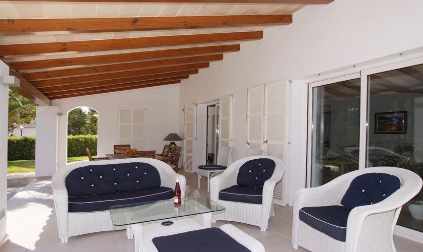 Terrasse Ferienvilla Mallorca Cala d´Or PM 6532
