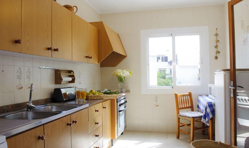 Kochbereich Ferienhaus Cala D'or Strandnah Preiswert 10 Personen PM 6533