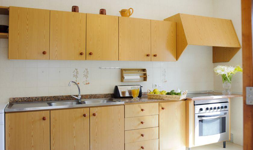 Küche strandnahe Villa mit Pool 10 Personen Cala D'or PM 6533