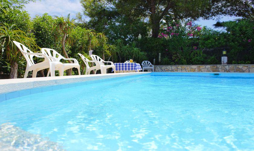 Poolblick Ferienhaus Mallorca preisgünstig 10 Personen PM 6533
