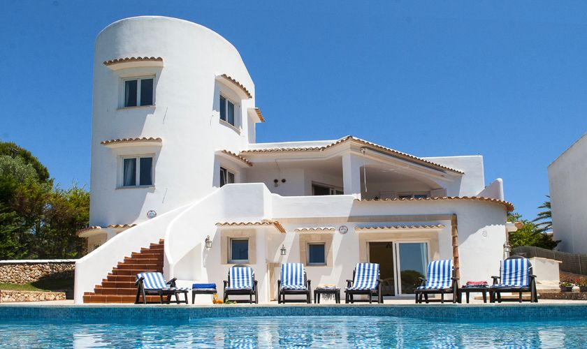 Blick auf die Ferienvilla Mallorca mit Meerblick PM 6536