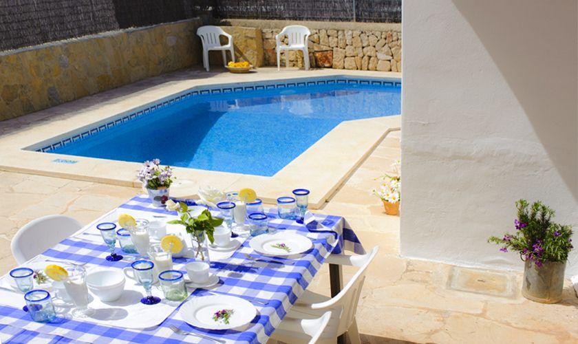Terrasse Ferienhaus Mallorca Cala d`Or PM 6538