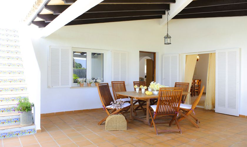 Terasse Ferienhaus Mallorca Cala d`Or PM 6538