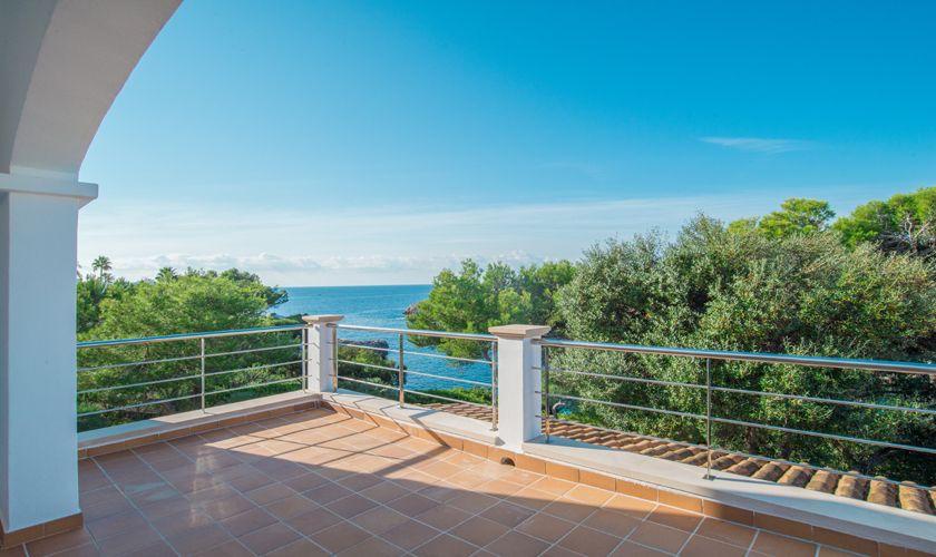 Terrasse und Meerblick Ferienvilla Mallorca PM 6539
