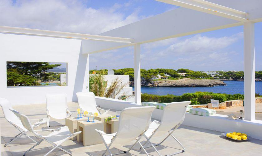 Terrasse und Meerblick Villa Mallorca PM 6540