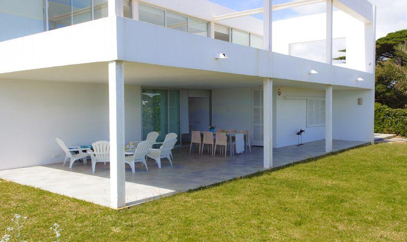 Überdachte Terrasse Villa Mallorca Meerblick PM 6540