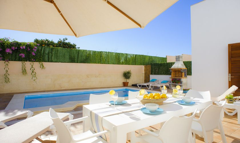 Poolterrasse Ferienhaus Mallorca Cas Concos PM 6541