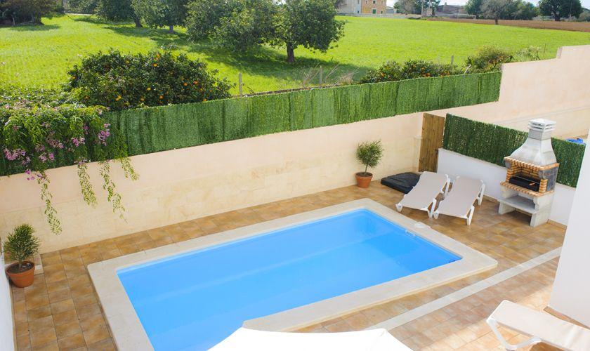 Pool von oben Ferienhaus Mallorca Cas Concos PM 6541