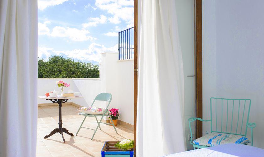 Terrasse Schlafzimmer Ferienhaus Mallorca PM 6541