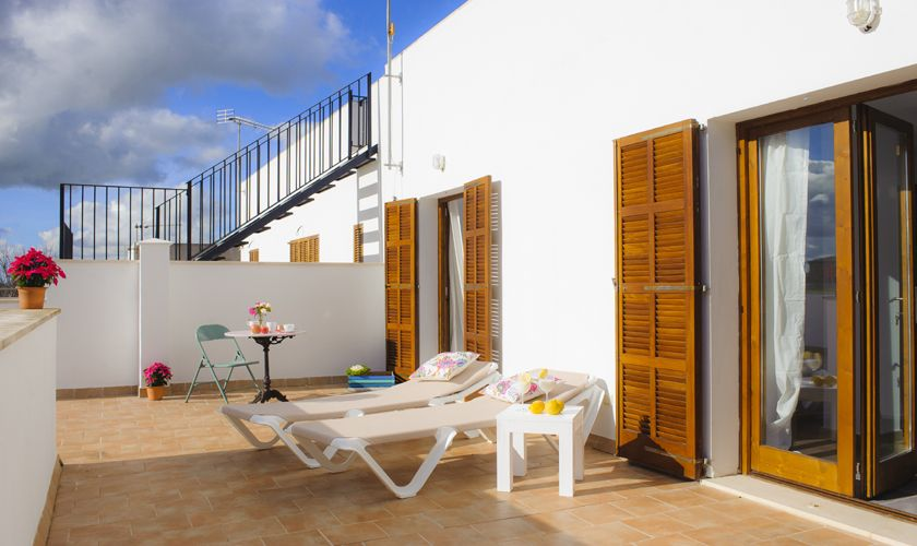 Terrasse oben Ferienhaus Mallorca Südosten PM 6541
