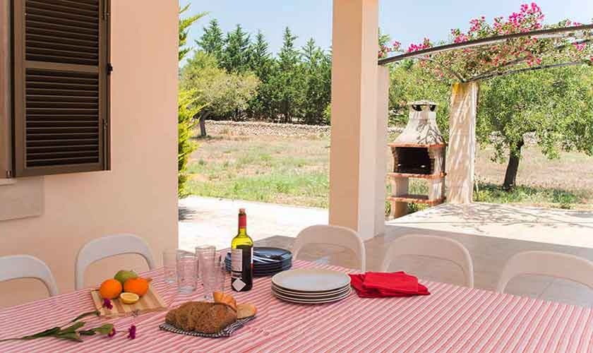 Terrasse Ferienhaus Mallorca Südosten PM 6547