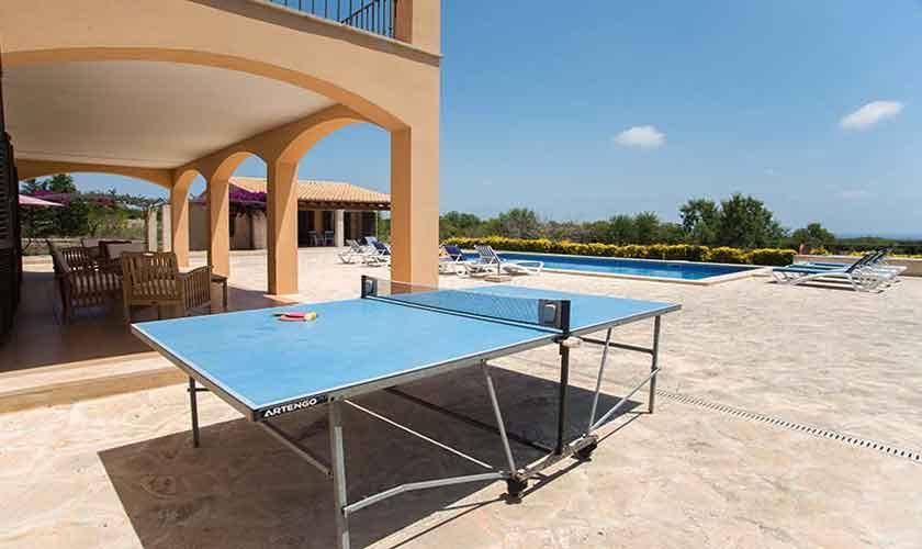 Tischtennisplatte Ferienvilla Mallorca Südosten PM 6547
