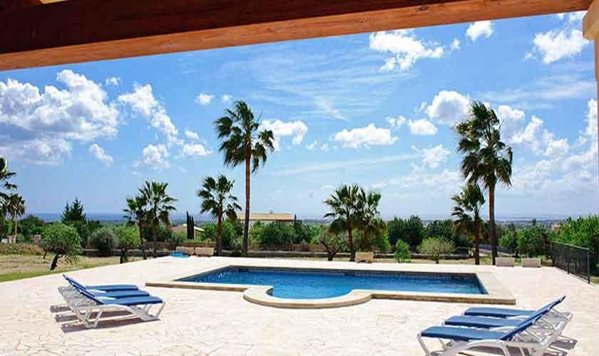 Poolblick Finca Mallorca Südosten PM 6548