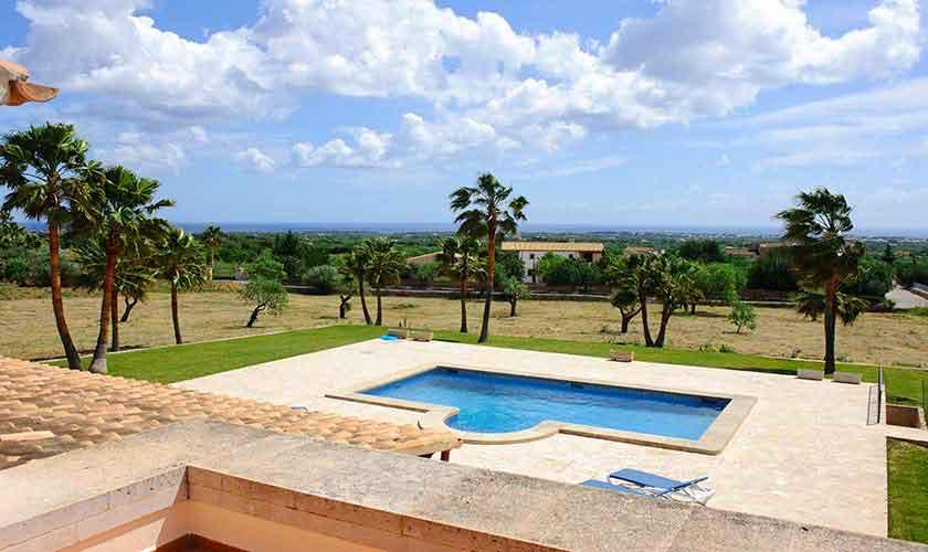 Pool und Landschaft Finca Mallorca Südosten PM 6548