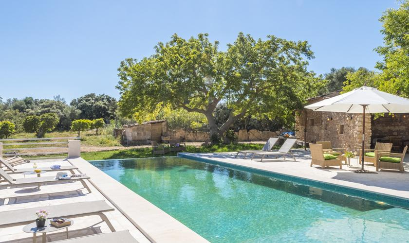 Pool und Liegen Finca Mallorca PM 6550