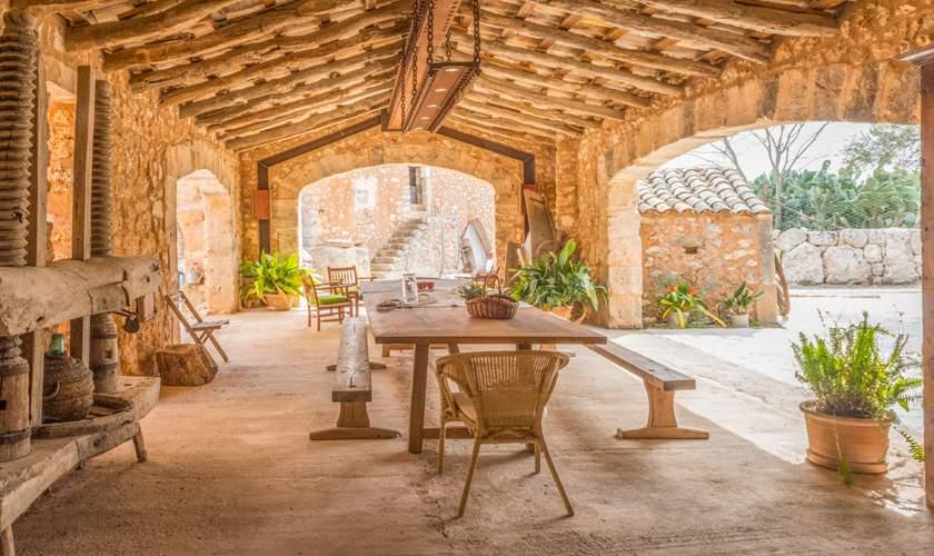 Überdachte Terrasse Finca Mallorca für 10 Personen PM 6550