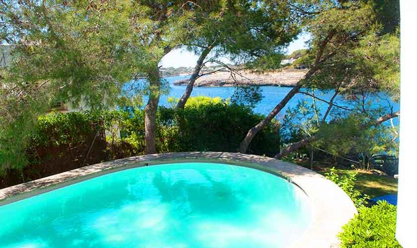 Pool und Meerblick Ferienhaus Mallorca Südosten PM 6551