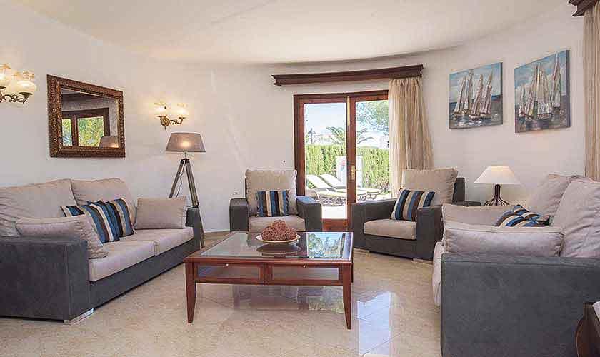 Wohnraum Ferienhaus Mallorca Südosten PM 6554